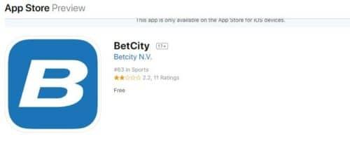 Бетсити App Store